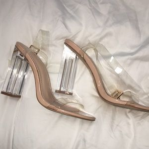 Fashionnova Glass Slippers size 7